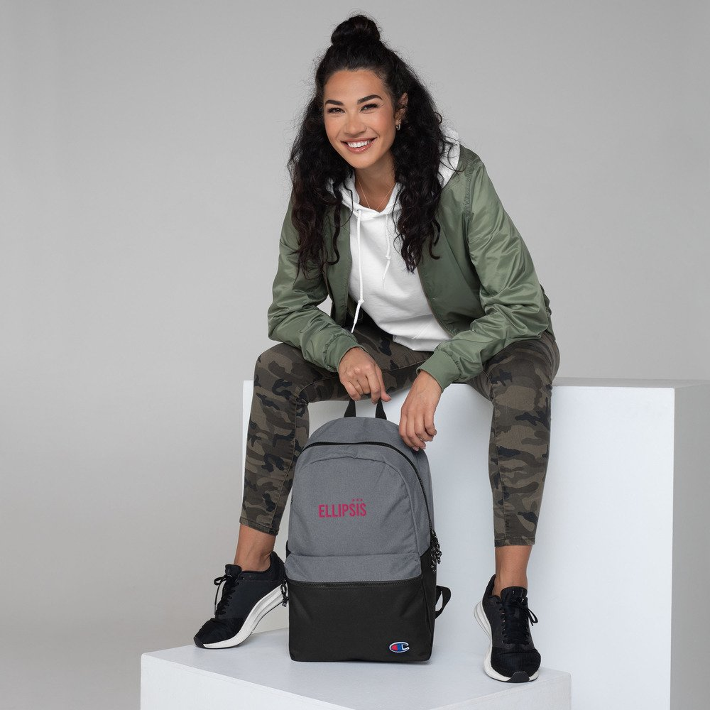 Ellipsis Embroidered Champion Backpack